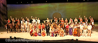 The cast and crew of Cavalia gathers after a special performance held on Tuesday     (Photo By Ross A. Benson)