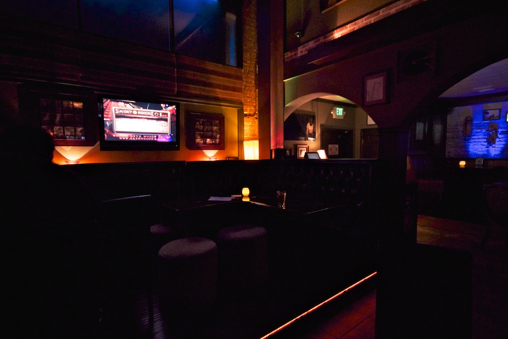 One of the several nooks and lounge areas surrounding the main floor of Saint Rocke (Photo By Steven J. Lynch)