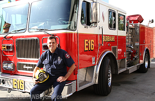 Retiring firefighter Kevin ParksPhoto s.          By Ross A. Benson