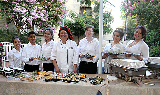 The Burbank High School Culinary Arts Instructor Judy Shalhoub and her students handled the catering duties and severed some magnificent dishes for all to enjoy.  (Photos By Ross A, Benson)