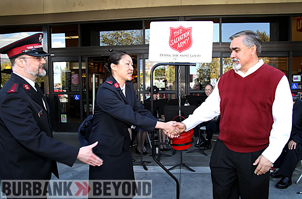 The Salvation Army kicked off the Holiday Season with it's Red Kettle Drive here in Burbank.  Photo by Ross A. Benson)