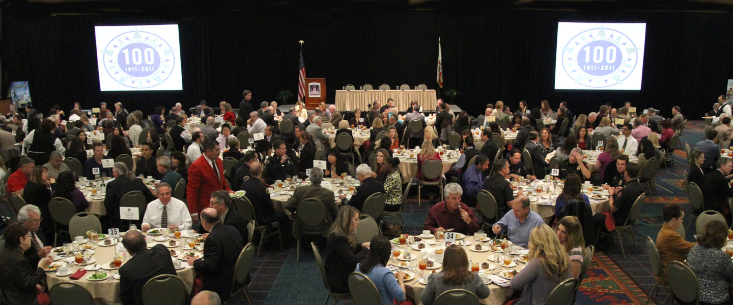 Large Crowd gathered for The State of The City Address Wednesday afternoon