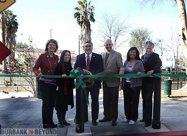 City Officials join Mayor Jess Talamantes, Gary Hildebrand LA County Public Works, Former Mayor Marsha Ramos, and other city officials. (Photo by Ross A. Benson)