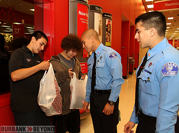 Burbank Police Dept. helps with some shopping at 'Shop with a Cop' at Target  (Photo by Ross A. Benson)