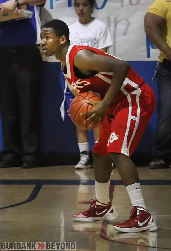 Burroughs Basketball Player Austyn Thompson No. 12.  (Photo by Ross A. Benson)