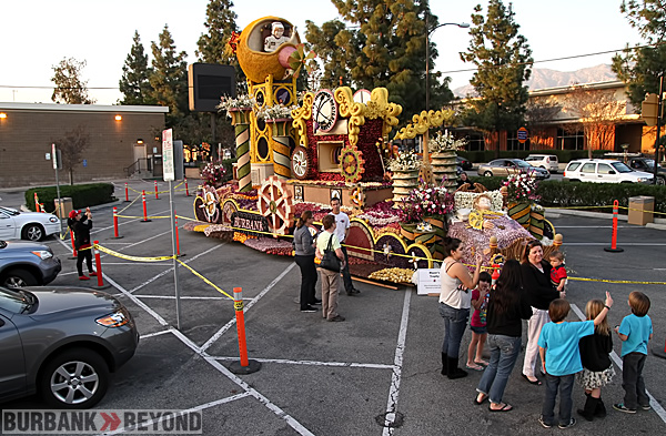 Last chance to come see the award winning Burbank Rose Float 'Dream Machine'.  (Photo by Ross A. Benson)