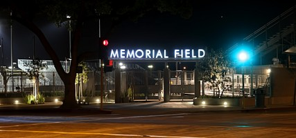 The City is about to unveil it's newest jewel Memorial Field during ceremonies  Saturday Morning at 11:00am, and the public is invited. (Photo By Ross A. Benson)