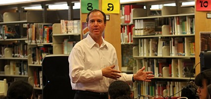 Senator Adam Schiff visited John Burroughs High School   (Photo by Ross A. Benson)