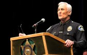Keynote Speaker Burbank Police Chief Scott LaChasse.(Photo by Ross A. Benson)
