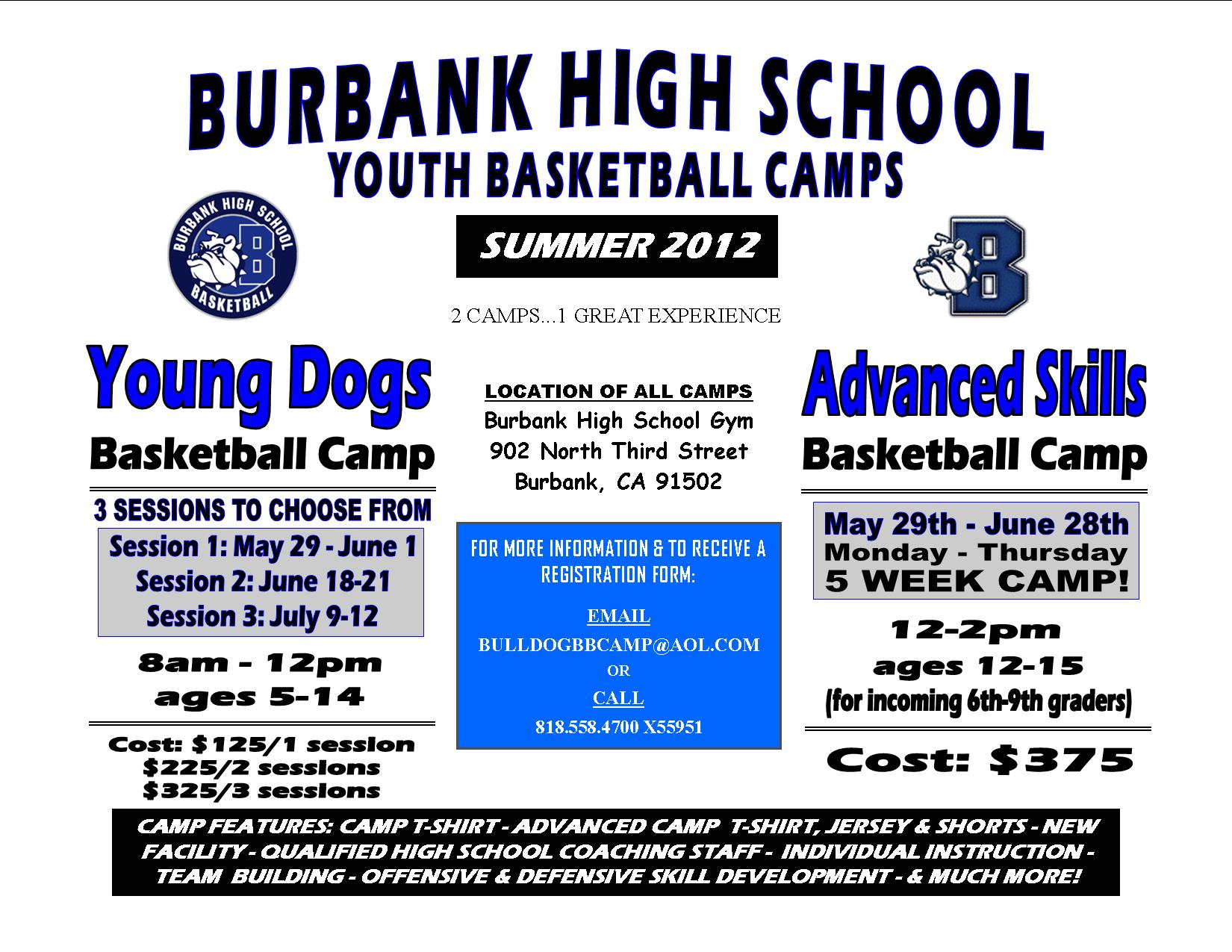 Burbank HS Summer Camp Flier 2012