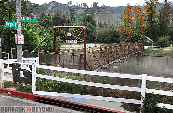 The Maraposa Horse bridge at Parkside will be CLOSED for repairs Monday May 7. (Photo by Ross A. Benson)