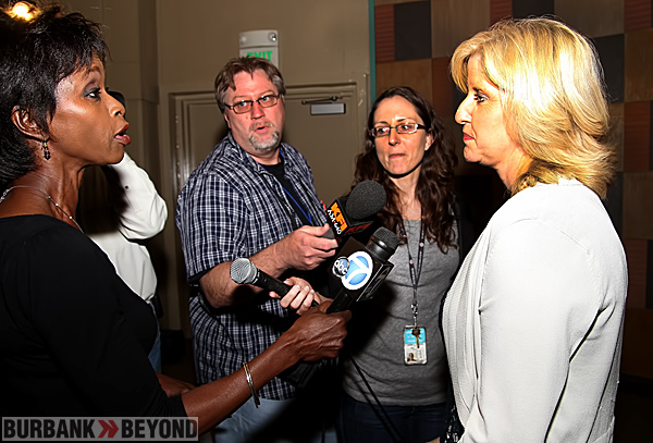 Media ask questions to Teacher of the Year Rebecca Mieliwocki. (Photo by Ross A. Benson)