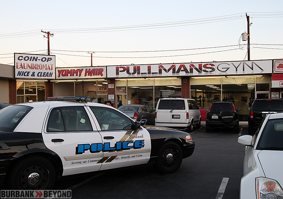 Burbank Police responded to Pullman&#039;s Gym Thursday evening after a 16 yr died following a sparring event. (Photo by Ross A. Benson)