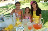 One way to beat the heat is to find a neighborhood lemonade stand like this one on Fairmount.  Poctured is (L to R) Sierra Brogmus (8), Raquel Brogmus (6) and Lily Sanchez (6) as they serve up some delisous homemade lemonade  (Photo By Craig Sherwood)