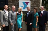 (L to R) Vic Georgino, Capital Campaign Chair, Burbank Community YMCA Michael and Caroline Cusumano J.C. Holt, CEO, Burbank Community YMCA Yvette Herrera, Director of Philanthropy, Burbank Community YMCA Roger Koll, Board President, Burbank Community YMCA