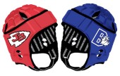 Burroughs and Burbank gamebreaker helmets (courtesy of Gamebreaker Helmets)