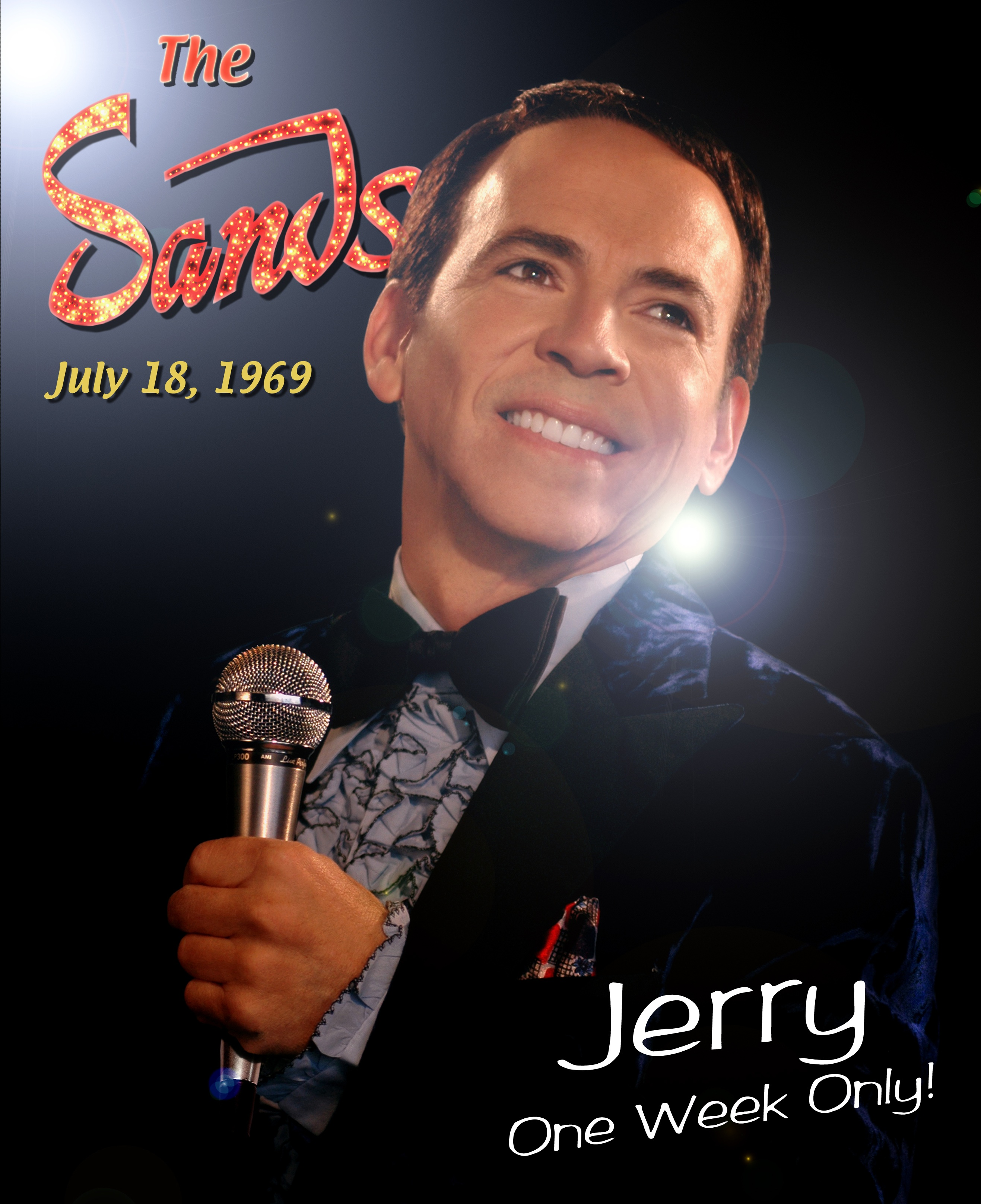 Nunzio Fazio playing Jerry at the Sands Hotel for the film Millie and Jerry. 