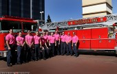 Members of The Burbank Fire Department have donned Pink 'T' shirts this week, showing their support for the Breast Cancer Awareness. (Photo by Ross A. Benson)