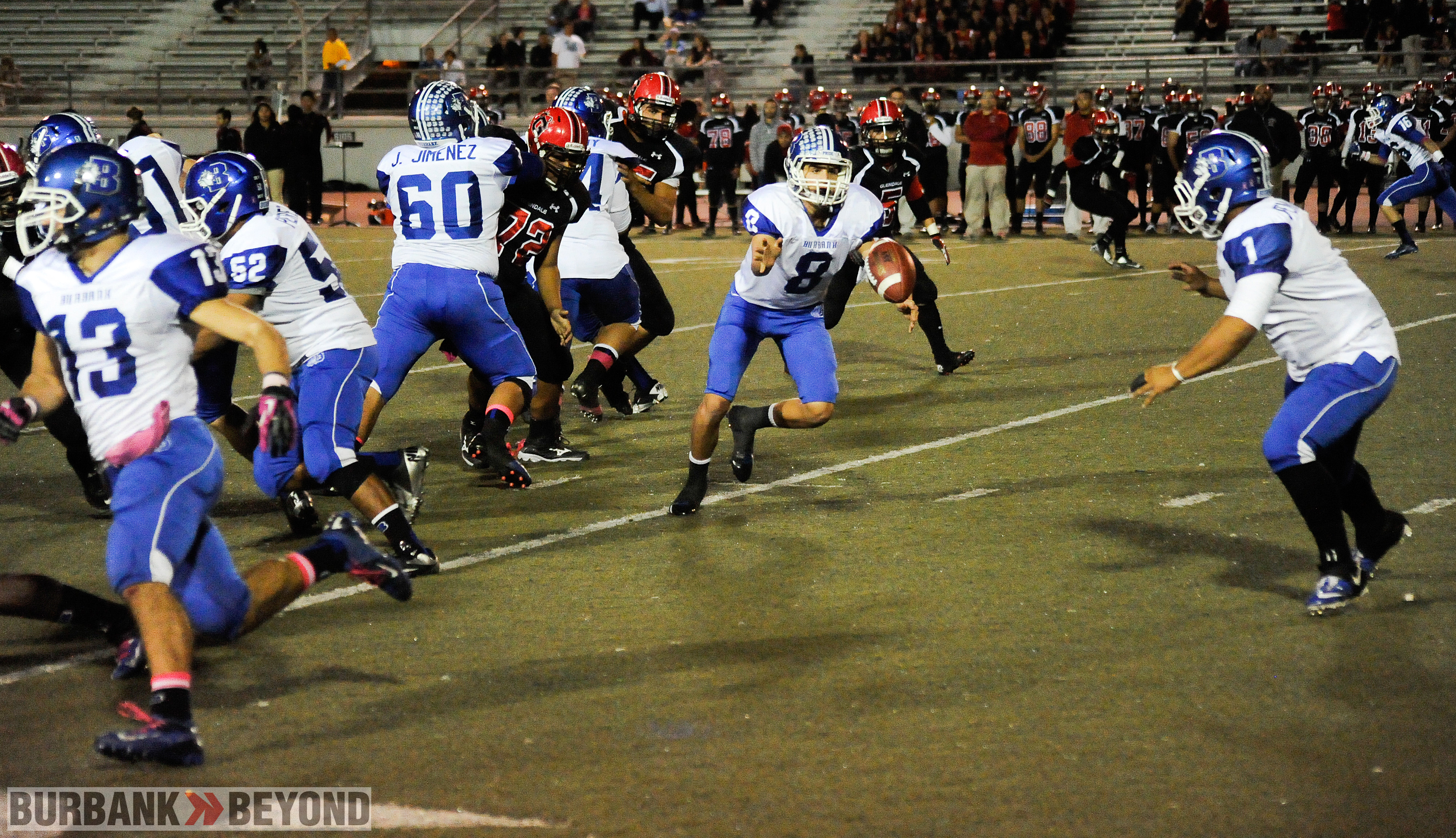 Joseph Pendleton takes the pitch en route to 113 yards on the evening (Photo by Craig Sherwood)