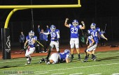 Steven Kim recovers the blocked punt by Andy Park (#20) for a touchdown (Photo by Craig Sherwood)