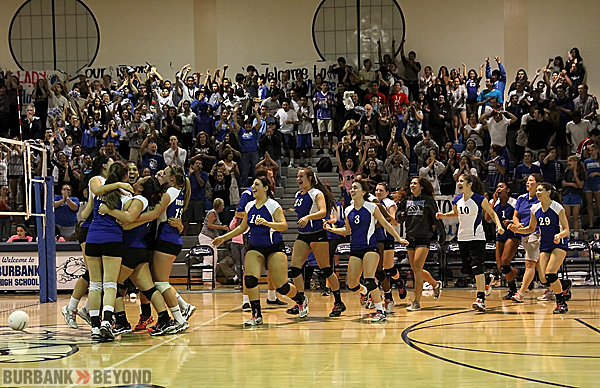 Burbank begins to celebrate its first league title since 1975 (Photo by Ross A. Benson)