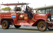 Burbank Fire Chief, seen here in last year's Burbank on Parade, will assume Interim City Manager duties until December 3