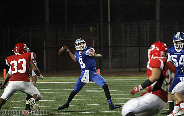 Ryan Meredith, #8, returns at QB for the Bulldogs (Photo by Ross A. Benson)