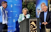 Emmy winner, Betty White pays a visit to the LA Zoo on behalf of Lifeline and animals everywhere.  (Photo by Deborah Dodge)