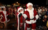 Mr & Mrs Santa Claus were greated by hundreds of happy kids at Burbank City Hall's Mayor's Tree lighting. (Photo by Ross A. Benson)