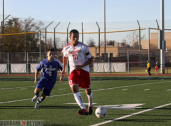Burroughs boys soccer won the Pacific League title (Photo by Ross A. Benson)