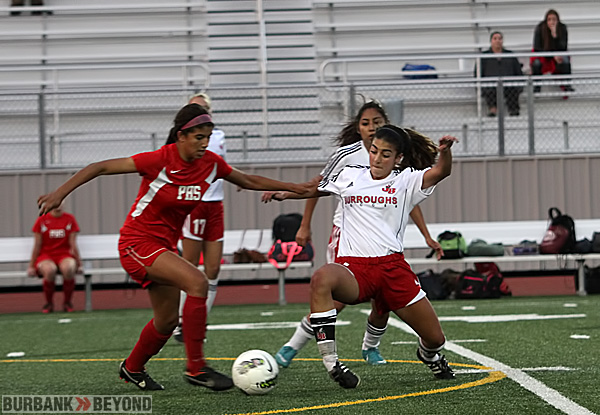 Burroughs girls soccer (Photo by Ross A. Benson)