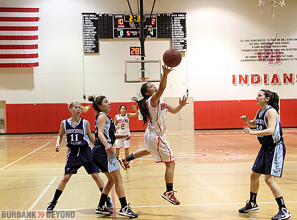 Burroughs girls basketball clinches a share of the Pacific League title (Photo by Ross A. Benson)
