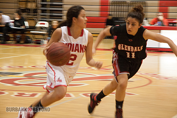 Delaney Nicol played a strong game at the point for the Indians (Photo by Dick Dornan)