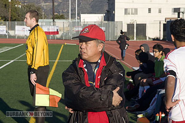Burroughs Coach Mike Kodama won his eighth league title (Photo by Dick Dornan)