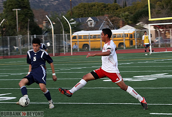 Burroughs boys soccer (Photo by Ross A. Benson)