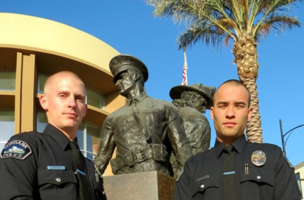Burbank Police Officers French (left) and Totemwongs 