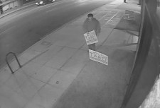 A man idientified as a campaign volunteer for  Steve Ferguson, is shown on surveilance video taken February 11.