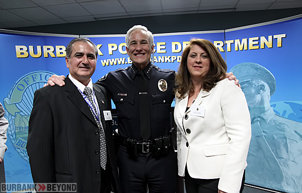 Armenian classmates Ardashes Azizian with Police Chief Scott LaChasse, and Hermineh Azizian.(Photo by Ross A. Benson)