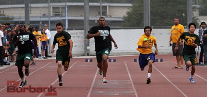 Boys 100 meter dash (Photo by Ross A. Benson)