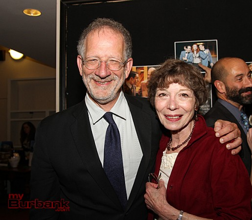 Book Writer Mark Saltzman & Colony Artistic Director Barbara Buckley. (Photo by Ross A. Benson)