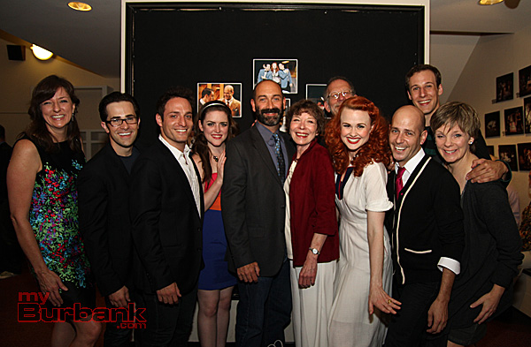 Cast of Falling for Make Believe Opening Nite. (Photo by Ross A. Benson)