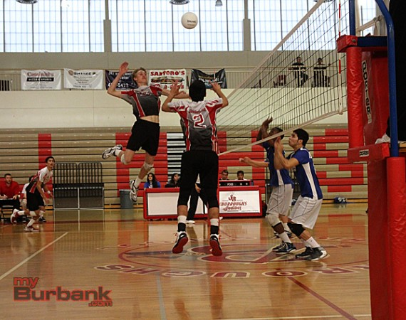 Burroughs took both matches this season against Burbank (Photo by Ross A. Benson)