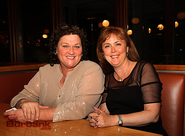 Dot-Marie Jones and Alexandra Helfrich who won the auction of a 'Lunch Date' and day at Glee for a group of four. (Photo by Ross A. Benson)
