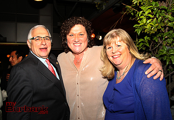 Barry Gussow, Dot-Marie Jones, and Karen Volpei.(Photo by Ross A. Benson)