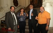 It's Thumbs Up for these winners of Burbank's Primary Election, L/R David Gordon, Char Tabot, Jess Talamantes and Larry Applebaum. (Photo by Ross A.Benson)