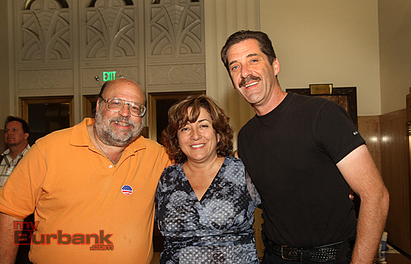 Reelected School Board Member Larry Applebaum is join by newly elected Char Tabet, and current School Board member John Dilibert. (Photo by Ross A. Benson)