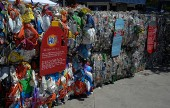 The Earth Day event had many exhibits to educate citizens about recycling (Photo By Craig Sherwood)