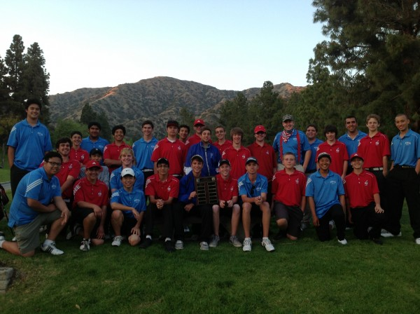 Burbank and Burroughs gather together after the 14th annual Burbank Cup at DeBell GC (Photo courtesy of Greg Everhart)