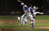 Burbank celebrates its wild card win (Photo by Ross A. Benson)