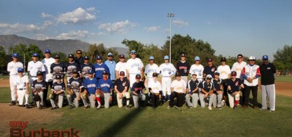 East & West All-Star teams together (Photo by Ross A. Benson)